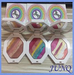 Wholesale Metallic Rainbow - New Arrival Fenty Beauty Unicorn Rainbow eyeshadow highlighter Cosmetics 3 colors available glamierre mermaid glitter DHL Free.002