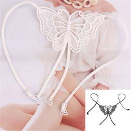 Wholesale Bra Shoulder Belt - 2015 Sexy Lace Big Butterfly Adjustable Strapless Bra Belt Shoulder Straps Gift