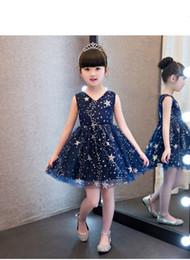 New Arrival Children Skirt Navy Lace Princess Flower Girl Dresses lace appliques communion dresses girls pageant dresses de