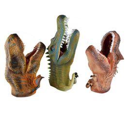 brinquedos de borboleta de dinossauro Desconto shaunyging # 5010 Grande De Borracha Macia Realista Dinossauro Brinquedos Mão Puppetst
