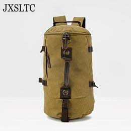 JXSLTC Brand Stylish Travel Large Capacity Backpack Male Luggage Shoulder Bag  Computer Backpacking Men Functional Versatile Bags 3384e01c8144a