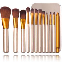 Накей теней для век онлайн-Nake-3 Тени для век Кисти для макияжа Набор Highlighter Foundation Кисть для макияжа с металлической коробкой DHL Бесплатная доставка