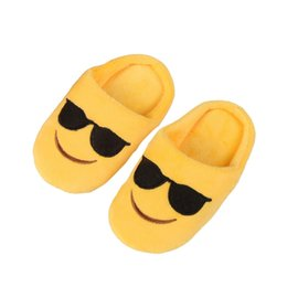 Wholesale Baby Girl Face - Infant Winter Cute baby girl Boys Slippers Expression Package Cotton Slippers Children Smiling Face Section Cool Style Flip Flop