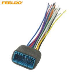 2019 filo di installazione Cablaggio stereo per autoradio aftermarket auto FEELDO per HONDA / ACURA / ACCORD / CIVIC / CRV Installazione # 2244 filo di installazione economici