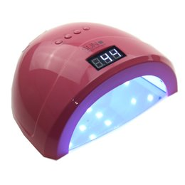 Wholesale Led Nail Curing Light - Rose Red Sun1s UV LED Lamp Nail Dryer 48W for Curing All Gel Nail Polish UV Light Manicure Machine Nail Art Tools