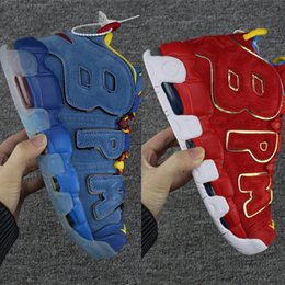 Wholesale Rubber Gym Flooring - With Box Top Quality Air More Uptempo 96 DB Doernbecher Blue Red God Jay Gym Red BPM Mens Basketball Shoes Scottie Pippen Sports Sneakers