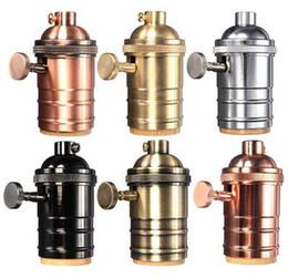 Vintage Edison Lampe Socket E26 / E27 Vis Ampoule Base En Laiton Porte-Lampe Industrielle Rétro Pendant Raccords Lustre Douille Fixture ? partir de fabricateur