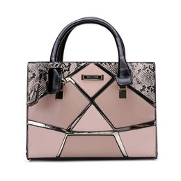 Wholesale Elegant Fashion Handbags - New Arrival Women Handbags Elegant Tote Fashion Brand Designer Socialite Serpentine Stereotypes Shoulder Bags Patchwork High Quality SY2135