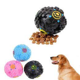 Wholesale Toy Trumpet Wholesale - Trumpet Sound Leakage Food Ball Dog Toy Pet Shrieking Ball Puzzle Resistant Teeth Bite Chew Tool OOA4202