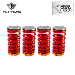Wholesale rear suspension springs - PQY - Forged Aluminum Coilover Kits for Honda Civic 88-00 Red available Coilover Suspension   Coilover Springs PQY-TH11