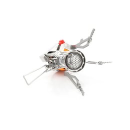 Wholesale red lunch - Folding BBQ Burner Stove Mini Pocket Cooking Tool For Outdoor Picnic Lunch Portable Stoves Lightweight Easy Carry Equipment 19 5hy ZZ