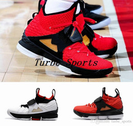 Wholesale diamond sneakers - 2018 New 15 Red Diamond Turf 15s Mens Basketball Shoes Black White Red Alternate Edition Sneakers Size US 7-12