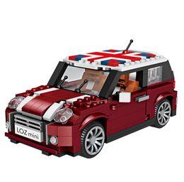 Wholesale birthday cars - LOZ mini saloon car model DIY building blocks educational toys for children birthday gift