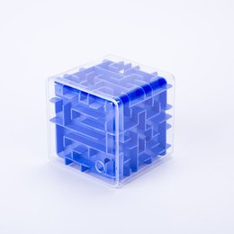 Wholesale Labyrinth Balls - Maze Magic Cube Puzzle 3D Mini Speed Cube Labyrinth Rolling Ball Toys Puzzle Game Cubos Magicos Learning Toys For Chilren