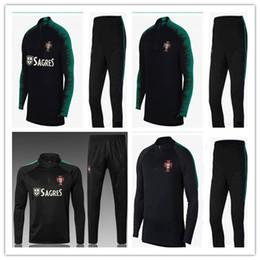 PORTUGAL 2018 Top Tailândia agasalho de futebol 18 19 terno de Treinamento  calças de treinamento de futebol roupas sportswear mens Camisola Camisa  casaco 28919e00e3817