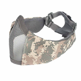 Half Face Party Cosplay Mask TPU  Paintball Mask Ear Protection Portable Foldable Breathable Outdoor Apparel Accessory от