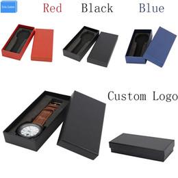 Canada Boîte de montre-bracelet en papier noir / rouge / bleu Boîte de montre pour oreiller EVA cheap eva Offre