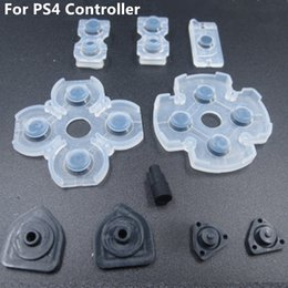 Wholesale Playstation Replacement Parts - Free shipping 10pcs x 10sets Soft Controllr Conductive Silicon Rubber Pads for Playstation 4 PS4 Buttons Replacement Repair Parts