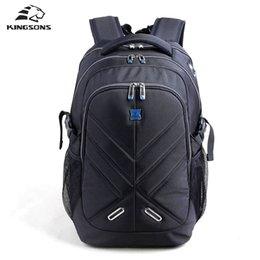 Kingsons with Hidden Rain Cover Backpack for Men Waterproof Business Backpack  Air Bag Shockproof Laptop Backpack 15.6,17.3 inch Y1890401 0587445b97