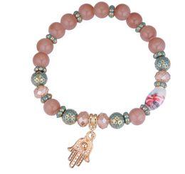 2019 silbernes rotes korallenarmband tibet 2018 Neue Ankunft Vereinigte Staaten diy Fatima Perlen Armband Stretch Mode Armbänder NK 167