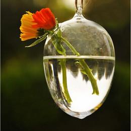 2019 contenitori da giardino Clear Egg Shape Glass Hanging Vaso Bole Terrarium Pot Piante da fiore Contenitori Teraryum Home ing Party Garden Decor contenitori da giardino economici