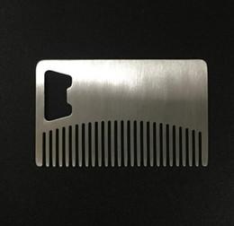 2019 bar anti statico Apribottiglie DHL Carta in acciaio inossidabile Apribottiglie per birra Anti statico Barba Pettine Bar Utensile da cucina nt sconti bar anti statico