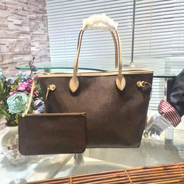 Wholesale Vintage Dots Candy - Classic Fashion Bags Orignal Real Oxidation Leather Fashion Famous Shoulder BagBrown Plaid Handbag Two-piece Suit Free Shipping