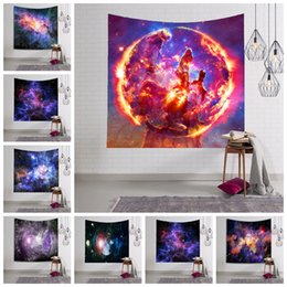 Wholesale 3d wall pictures - 150*130cm Amazing Night Starry Sky Star Tapestry 3D Printed Wall Hanging Picture Bohemian Beach Towel Table Cloth Blank GGA344 20PCS