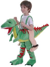 Alta Qualidade Crianças Passeio Em Dinossauro Fantasia Equitação Stand Em Outfit Fancy Dress Up Traje para a Criança Halloween mascote Purim Carnivalparty de