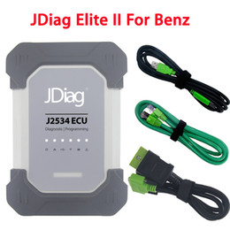 Wholesale Mercedes Compact - 2018 Wireless JDiag Elite II For Mercedes Benz Diagnosis Replace MB Star Diagnostic C4 Scanner SD Connect Compact DAS Xentry OBD2 Car Tool