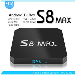 facebook youtube Coupons - 2018 New S8 MAX 4GB 32GB Android 8.1 TV Box 2.4G 5.8G WIFI Bluetooth 18.0 IPTV Media Player Better MX10 H96X MAX