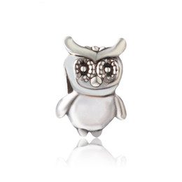 Wholesale pandora owl - Protection Night Owl Alloy Charm For Pandora Bracelet Snake Chain Or Necklace Fashion Jewelry Loose Bead New Arrival