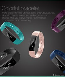 Wholesale Green Counter - ID115 Smart Bracelet Fitness Tracker Step Counter Activity Monitor Band Alarm Clock Vibration Wristband for iphone Android phone