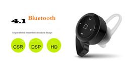 Fone de ouvido caracol on-line-Top Quality MINI Caracol A8 Fones De Ouvido de Alta-fidelidade Fone De Ouvido Microfone Sem Fio Bluetooth 4.1 EDR Fones De Ouvido Esportes Mono Headset para Samsung
