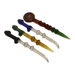 Dabber Glass Dabber Aceite Dab Stick Carving Tool Diseño Único Dabber Glass Tool para Cuarzo Titanium Banger Nail Glass Bowls Bongs Tuberías DHL desde fabricantes