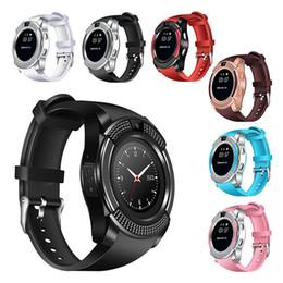 телефоны с несколькими sim картами Скидка V8 Smart Watch многофункциональный Bluetooth Smartwatch поддержка SIM-карты TF с камерой для Apple iPhone Samsung Android телефонов