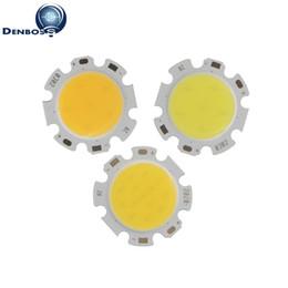 Wholesale 28mm Led - DENBOSS manufacturer 28mm Round Aluminum LED COB Light Source Module 3W 5W 7W 10W 12W COB bulb lamp Flip chips for spotlight