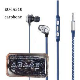 Nota de samsung para auriculares online-Nuevo trenzado EO-IA51 auriculares 1.2 M 4 pies 3.5 mm con conexión de cable estéreo a prueba de sudor deportes inear música auriculares auriculares para samsung s8 s9 nota 9