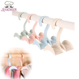 Wholesale Tie Wardrobe - Creative Rotated Clothes Rack Storage Hanger For Bags Tie Coat Closet Wardrobe Hooks