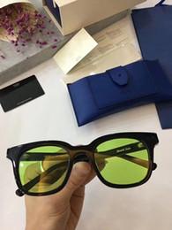 2019 gafas de sol laterales Diseñador de la marca-2017 Nueva V marca GM South Side Sunglasses Vintage Mujer azul noche Gafas Corea Gentle Hombre Mujer Gafas de sol oculo feminino gafas de sol laterales baratos