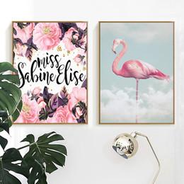 2019 wolken kunst moderne malerei Modern Home Decoration Flamingo In Den Wolken Leinwand Malerei Poster Und Drucke Wandkunst Bilder Wohnzimmer Schlafzimmer Wandmalereien günstig wolken kunst moderne malerei