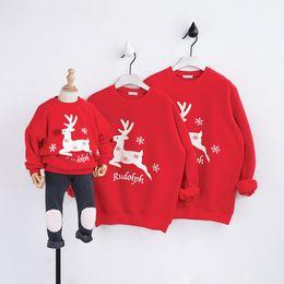 Wholesale Parents Children S Clothing - Christmas Kids Boys Girls Women Men Long Sleeves Casual T-shirt Hoodie Parent-child Clothing Christmas Gift
