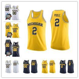 86c7f91bf 2019 jerseys de baloncesto 5xl 2018 Final Four Michigan Wolverines College  Basketball 2 Poole 3 Zavier