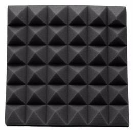 Wholesale Sponge Wedges - Newest Fireproof Studio Acoustic Soundproof Foam High Density 30*30*5cm Sound Absorption Treatment Panel Tile Wedge Protective Sponge