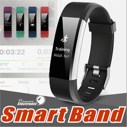 Wholesale Waterproof Android Gps - ID115 HR Plus Smart Wristband Fitness APP GPS Activity Tracker Smart Bracelet HR Sleep Monitor Smart Band BT Camera and Music Remote Control