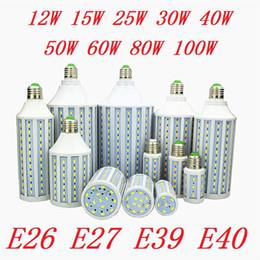 Lampes suspendues cool en Ligne-Super lumineux 40W 50W 60W 80W a mené les ampoules légères E27 E40 SMD 5730 a mené le maïs allume l'angle 360 mené par allumage AC 110-240V