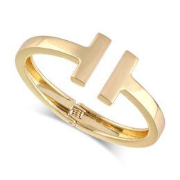 Золотой бр онлайн-Мода ювелирные изделия золото Sier металлический сплав мужчины и женщины любят браслеты браслеты ногти браслет-манжета ювелирные изделия Pulseira Mujer BR-03184