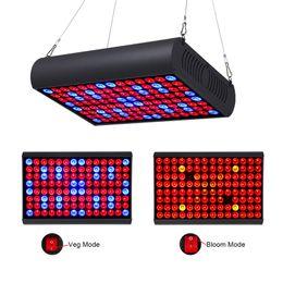 panel led de modo Rebajas LED Grow Light 300W Full Spectrum Panel con Veg Bloom Dual Mode Growing Lamps con Jack extensible para plantas de invernadero crece