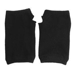 2019 luvas elásticas sem dedos 5Set Sale Black Elastic Acrílico Inverno  Fingerless Luvas De Malha para b71660232ab4