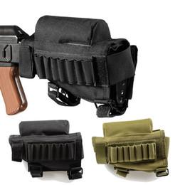 caza de cartuchos Rebajas Rifle de caza Cartucho Cinturón 7 Ronda Airsoft Tactical Bandolier Gauge Ammo Holder Militar Accesorios Pistola Corona Mejilla
